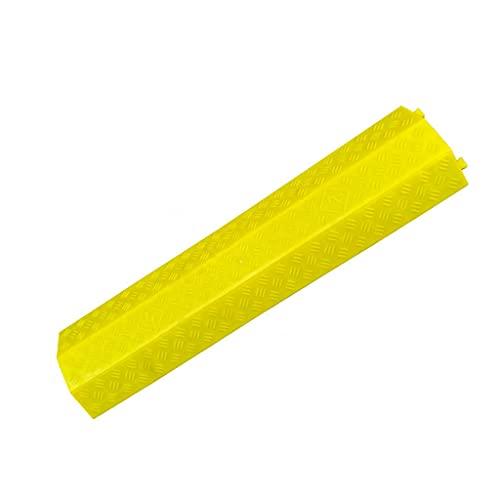 WXJ Rampa Protectora de Cables de PVC Rampa Protectora de Cables de Alta Resistencia 1-2 Canales Bache de Velocidad Modular para Garaje Caminos de Grava Asfalto