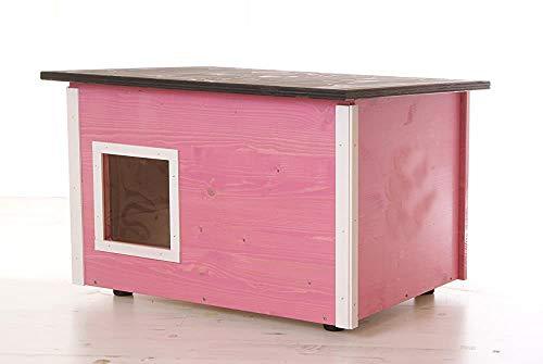 Außen Cat House - wetterfest Außen- und Innenkatzenhaus mit natürlicher Hitzejustage Funktion,B