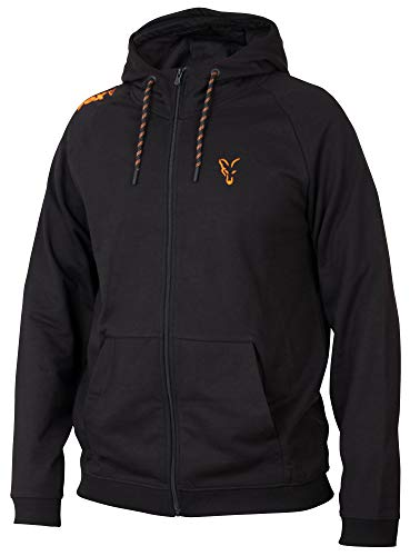 Fox Collection Black Orange LW Hoodie - Kapuzenpullover, Größe:XXL