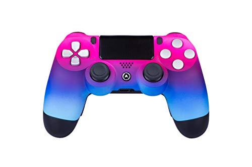 AimControllers PS4 Custom Wireless Controller, PlayStation 4 Personalisierter Controller Neon Pink mit 4 Paddeln, Gaming Joystick, Dualshock, Gamepad [GAMING]