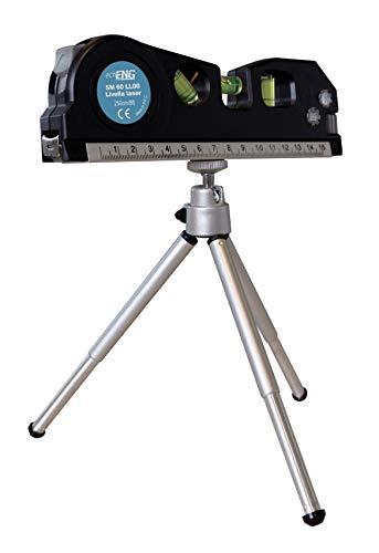 Livella laser con flessometro e treppiede 3m echoENG SM 60 LL00