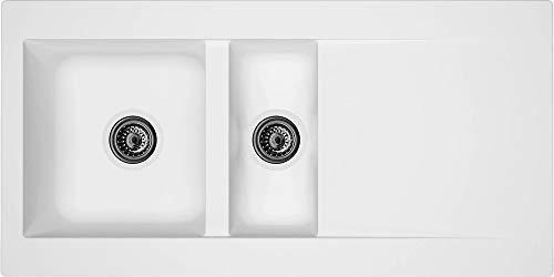 respekta DENVER100X50W Spüle, Weiss, 100 x 50 cm