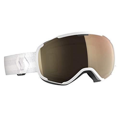 Scott Faze II Long-Sleeve Goggle Braun-Weiß, Skibrille, Größe One Size - Farbe White - Light Sensitive Bronze Chrome