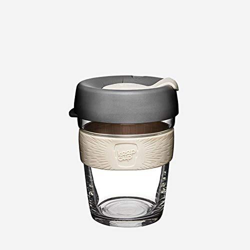 KeepCup Brew Glass Reusable Coffee Cup, 12 oz, Espresso