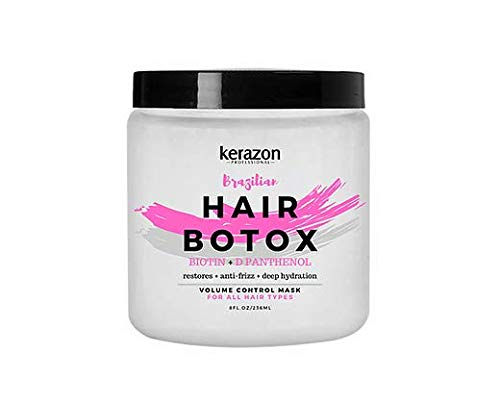 Kerazon Brazilian Hair Botox Treatment For All Hair Types, Thermal Activated Hair Mask with Stronger and Long Lasting Volume And Frizz Control. Original formula. Imported. Formaldehyde Free.