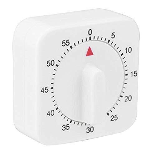 60 Minuten Küchenuhr Count Down-Alarm Erinnerung White Square Mechanische Timer for Küche (Color : 1Pc)