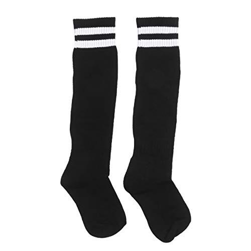 Holibanna 1 Paar Polyester Fußball Socken Athletic Crew Socken Fußball Sport High Knie Schlauch Socken Streifen Strümpfe für Kinder