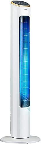 wangYUEQ Ventilador de torre de enfriamiento con viento cómodo y suave,Ventilador de piso portátil saludable,Temporizador de 15 horas,3 velocidades de ventilador de refrigeración,Control remoto,40W