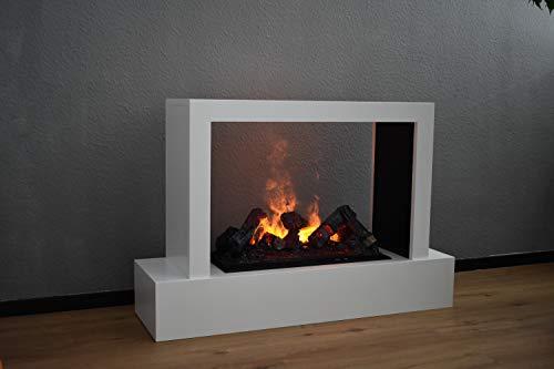 Elektrokamin Raumteiler - GLOW FIRE Humboldt, Opti Myst Wasserdampf Feuer, elektrischer Standkamin mit Fernbedienung, regelbare Flammenstärke