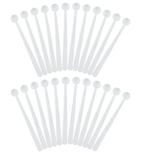 Cornucopia Mini Scoops Measuring Spoons (24-Pack); Micro 1/32 Teaspoon or 150 Milligram Measure for Cosmetics, Medicines, Powders, and Natural Sweeteners.15 CC