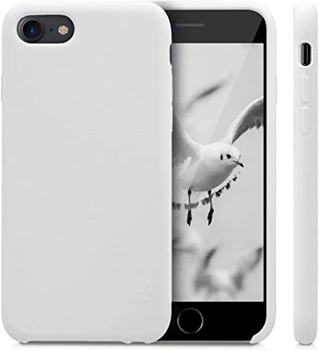 CL RICAMBI CASA - Cover iPhone 7/8 / SE 2020 Custodia Antiurto Compatibile Silicone Liquido Anti Graffio Silicone Ultra Sottile Protettiva 4,7'' Cover iPhone 7-8 - SE 2020 Bianco