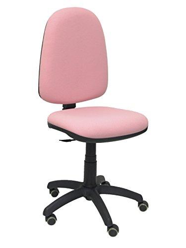 Piqueras y Crespo 04CP - Silla de Oficina ergonómica con Mecanismo de Contacto Permanente, Regulable en Altura y Ruedas de parquet, Color Rosa pálido