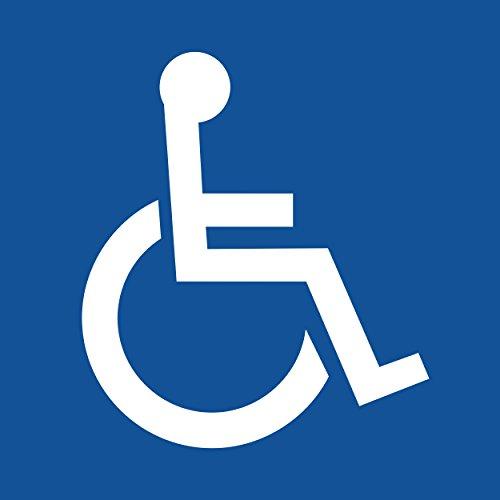 Rollstuhlfahrer Aufkleber (10 Stück) Rollstuhlfahrer Gehbehinderung 105x105 mm für Rollstuhl, Rolli, Fahrzeuge, Transporter, 10x10, Behinderten Aufkleber, Rolli Aufkleber, Rollstuhl, Rollstuhlfahrer