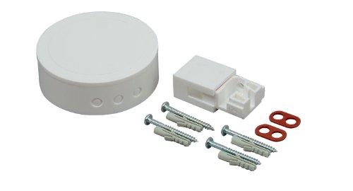 Kopp 342017089 Abzweig-Garnitur- Baldachin, Leuchtenaufhänger und Befestigungsmaterial, weiß