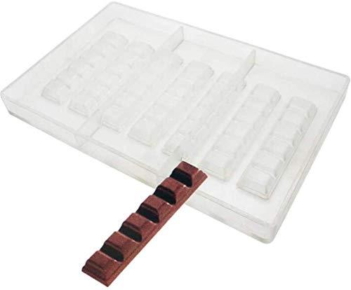 Molde de policarbonato para barra de chocolate, molde de chocolate, para hornear, repostería, plástico transparente