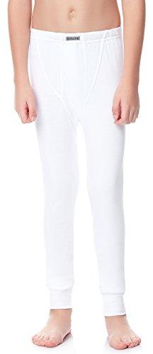 Timone Jungen Lange Unterhose TISS1001 (Weiß, 122)