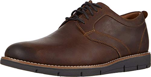 Dockers Mens Nathan Leather Dress Casual Oxford Shoe, Dark Brown, 8.5 M