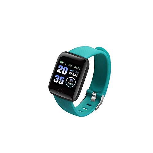 116 Plus Smart Watch Impermeable Presión Arterial Fitness Tracker Ritmo cardíaco Podómetro Smartwatch Pulsera D13 (Verde)