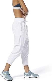 Reebok Women's  Training Supply 7/8 Length Pant, White, Medium