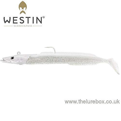 Westin Sandy Andy Snow White - Señuelo de Pesca (22 g hasta 82 g, premontado con Base de Repuesto, Longitud de 13 cm hasta 19 cm)