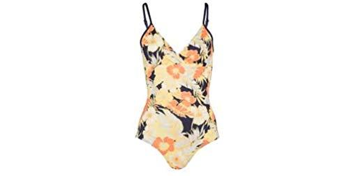 Bogner Damen Badeanzug Modell: Juditha Farbe: Blau/Gelb/Orange Gr. 36 Swimmsuit with Flowers