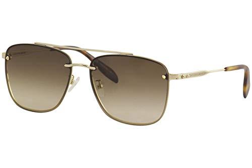 Alexander McQueen Gafas de Sol AM0184SK Gold/Brown Shaded 62/16/145 hombre