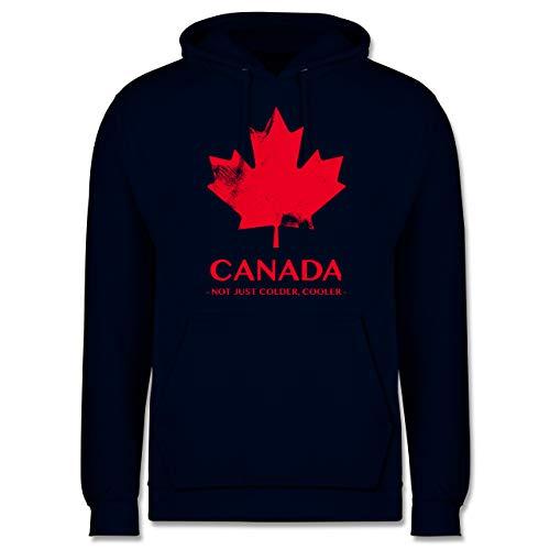 Shirtracer Länder - Canada Vintage Not just Colder Cooler - 5XL - Navy Blau - Kanada - JH001 - Herren Hoodie und Kapuzenpullover für Männer