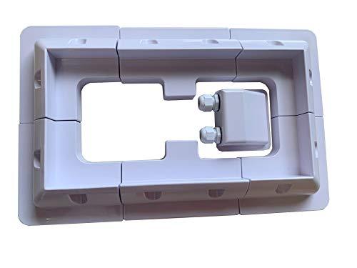 JVJ - Set di 7 supporti solari per pannello solare, colore bianco, rettangolari, per camper, barche, caravan, marine