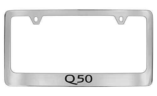 Infiniti Q50 Engraved Chrome Plated Metal License Plate Frame Holder