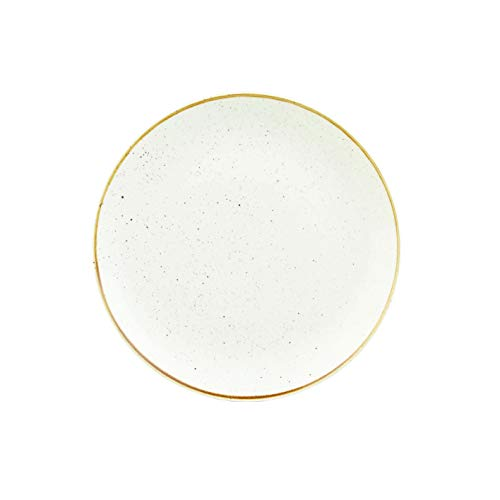 Churchill Stonecast -Coupe Plate Teller- Durchmesser: Ø28,8cm, Farbe wählbar (Barley White)