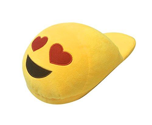 Lath.Pin - Pantuflas Kigurumi de peluche Emoji unisex para adulto, zapatos de Cosplay, disfraz para Halloween amarillo Size: Talla única