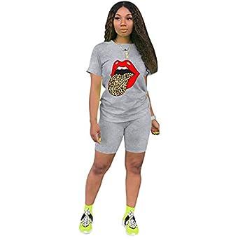 Woman Jumpsuit Romper Women s 2 Piece Outfit - Casual Solid Color T-Shirts Workout Tracksuit Bodycon Pants Suit Set