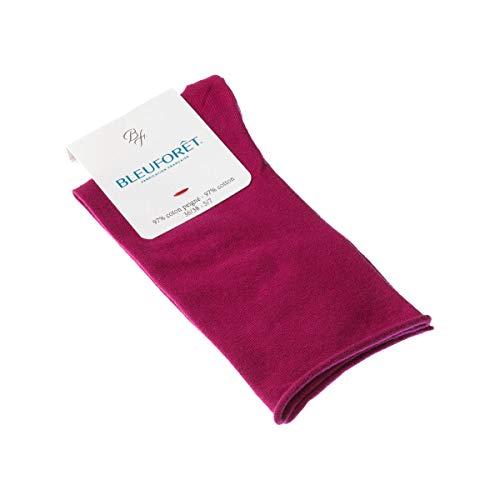 Bleuforêt Calcetín Hasta la pantorrilla - 1 par - Sin elasticos - Sin tejido de rizo - Fine - Rose - Velouté - 39/41