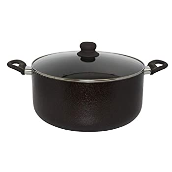 IMUSA USA Bronzed Stock Pot 12.7Qt Black