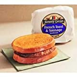 Jimmy Dean French Toast and Sausage Sandwich, 3.6 Ounce -- 12 per case.