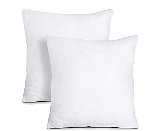 Iyan Soft Furnishing Cushion Inner Pads (Pack of 2 - White) - Hollowfibre Cushion Fillers / (60 x 60 cm) Cushion Inserts Scaters 24' x 24'