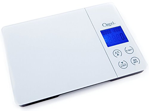 Ozeri Gourmet Digital Kitchen Scale with Timer, Alarm and Temperature...