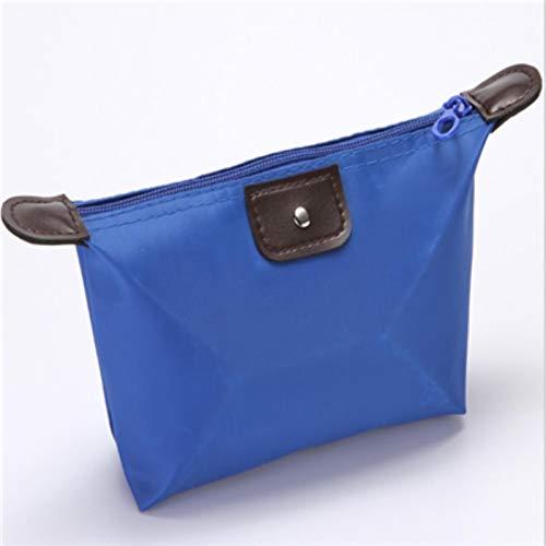 Bolsa de cosméticos para mujer, impermeable, plegable, pequeña neceser de maquillaje para mujer, bolsa de almacenamiento de belleza, organizador de viaje