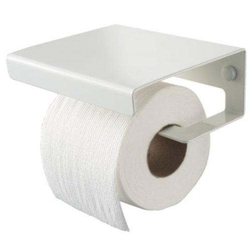 Haceka Toilettenpapier-Halter mit Deckel weiß Dude 406035