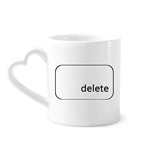 DIYthinker símbolo del Teclado Eliminar café cerámica Taza de cerámica con la manija 12 oz Regalo del corazón
