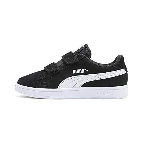 PUMA Unisex Kinder Smash v2 SD V PS Sneaker, Black White, 33 EU