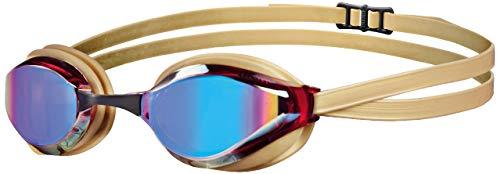 arena Unisex Training Wettkampf Schwimmbrille Python Mirror (Verspiegelt, UV-Schutz, Anti-Fog Beschichtung), Revo-Gold (34), One Size