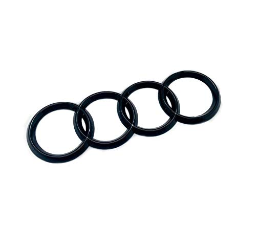 Gloss Black Rear Boot Lid Badge Emblem Rings For A1 A3 S3 A4 S4 A5 S5 A6 A8 Size 180mm x 60mm