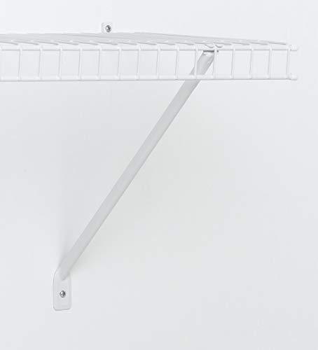 ClosetMaid 16-Inch Shelf Support Brackets, White, 12-Pack #1776