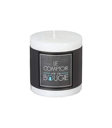 Bougie Ronde Rustique Blanche 7 X 7 CM.