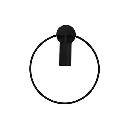 Muur Sconce Lights Wandlamp Zwart voor Slaapkamer Bedkant Moderne Cirkel LED Wandlamp Woonkamer Wandverlichting armatuur D28cm