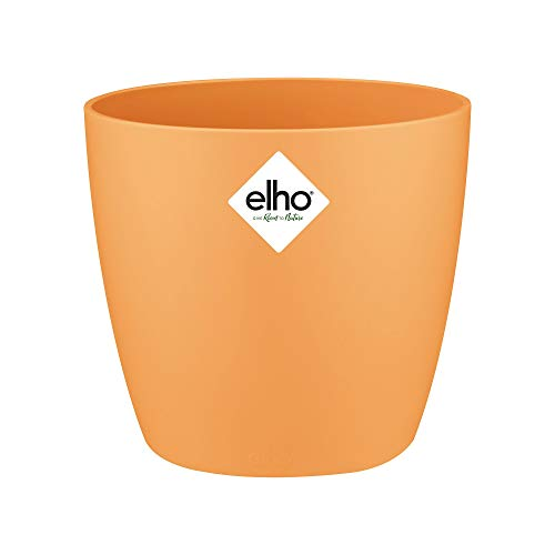 Elho 5641021114800 Brussels Round Mini Flowerpot, 10.5cm, Sunrise Orange