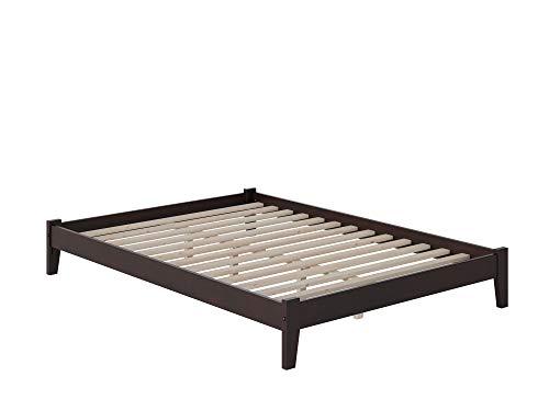 Atlantic Furniture Concord Platform Bed with Open Foot Board, Full, Espresso