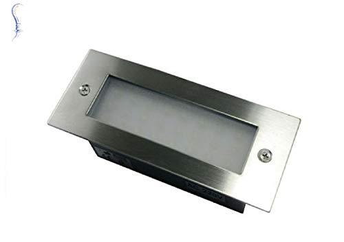 DRIWEI Foco IP65 para empotrar con luz LED fría de 6000 K para señalar el camino, uso exterior, interior, casa, jardín, terraza, decoración, iluminación y potencia de 3 W