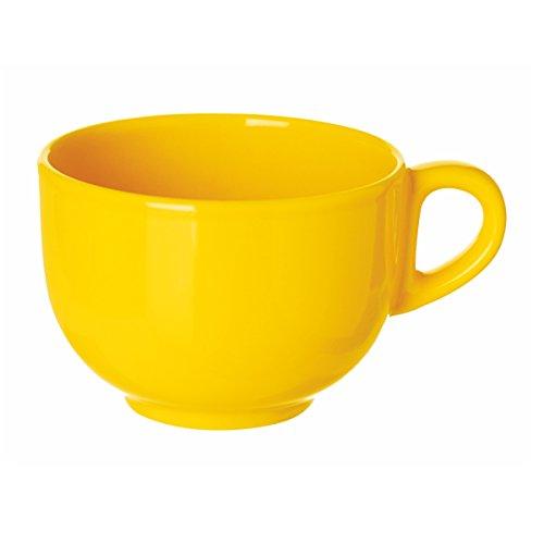 Taza amarilla grande, especial desayunos